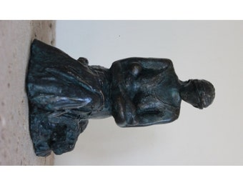 Twins - Original Sculpture of Mother and Twin Babies