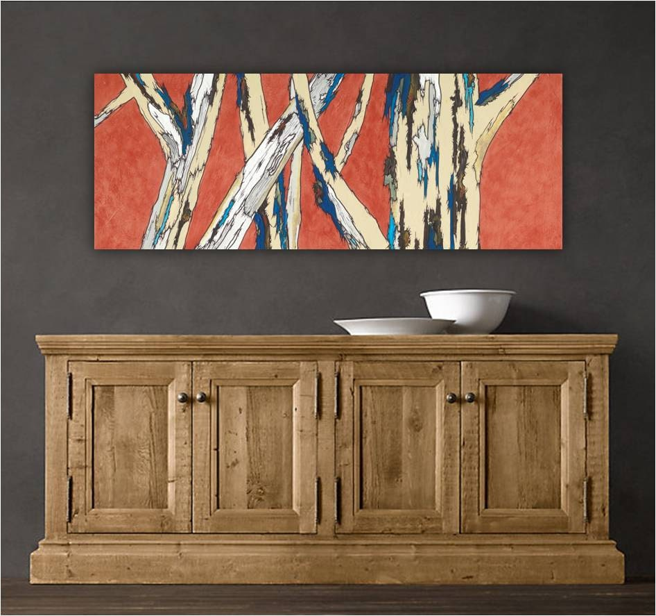 Extra Large Wall Art Long Artwork Giclee Canvas Print Long
