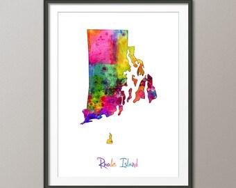 Rhode island map Etsy
