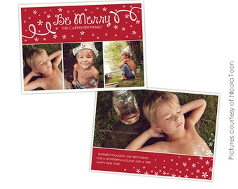 INSTANT DOWNLOAD - Christmas Photo card Photoshop template - Christmas Dream - E506