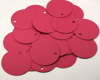 50 Pink Circle Tags . 2 Inch Round Price Tags . Round Blank Tags . 27 Colors Available!