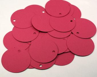 Round Hang Tags - Paper Circle Tags - DIY Round Tags - Large Round Price Tags - Blank Circle Tags - Colored Gift Tags - Circle Shower Tags