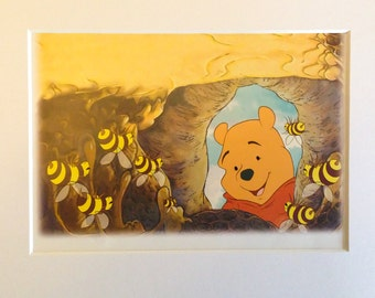 DISNEY'S WINNIE The POOH with Matte- 5x7, 8x10, Children's Book Page, Wall Decor, Nursery, Birthday, Baby Shower, Bedroom, Party, Gift