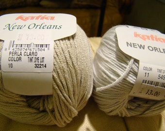 Katia New Orleans cotton blend DK yarn -made in Spain - SALE -only 2.99 USD