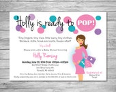 Set of 80 Trendy Ready To Pop Baby Shower Invitations