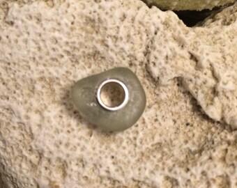 Sea glass jewelry-sea foam green sea glass bead
