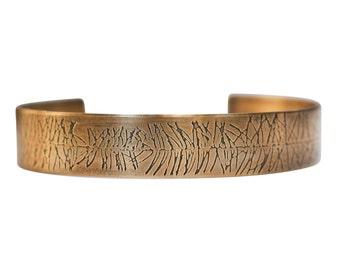 Fir Branch Silver and Brass Cuffs, fir branch cuff, tree jewelry, nature jewelry, silver fir, tree cuff, fir tree cuff, brass nature jewelry