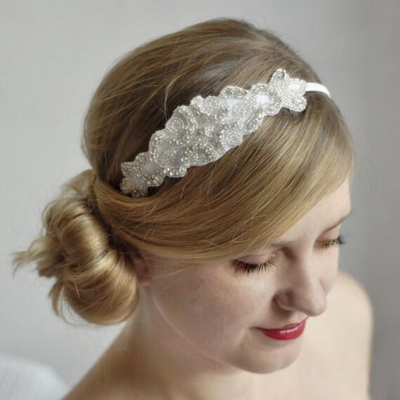 Wedding Hair With Rhinestone Headband : Rhinestone bridal headband wedding hair accessory crystals