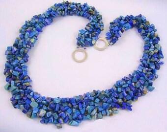Lapis Lazuli Woven Necklace