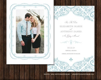 5x7 Save the Date Card Template - S19