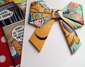 Handmade Origami Bow Greeting Card & Envelope Adventure Time