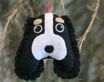 Felt Spaniel Dog Ornament