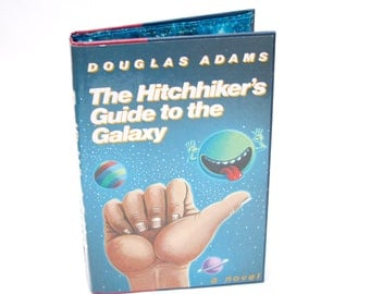 The Hitchhikers Guide to the Galaxy Book Kindle Cover,  Nook Cover- Ereader Case-