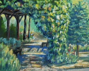 Arbor Shadows original oil painting