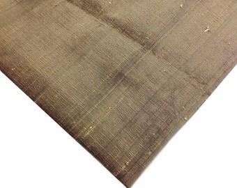 Hazel Dupioni Indian Silk Fabric - Pure Silk Dupioni - Raw Mulberry Silk - Indian Dupioni Silk - Haze01
