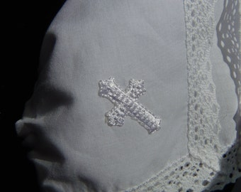 Cross Applique CROSS ONLY will be applied to your choice of bonnet Embroidered applique