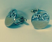 Goldtone and Silver Plated Cuff Links