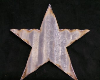 FREE SHIPPING Up-cycled old Corrugated Metal Star