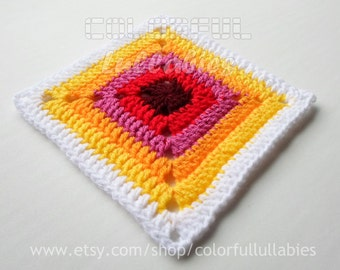 Double Crochet Solid Square chart. Pattern No 3 of the collection of Basic Crochet Shapes