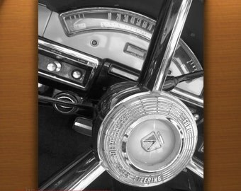 Ford Car Photo, Dashboard Picture, Old Car Art, Steering Wheel, Car Photography, Classic Ford, Automobile Art, Boyfriend Gift, Photo Print