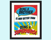 Brother Superhero Wall Art Printable