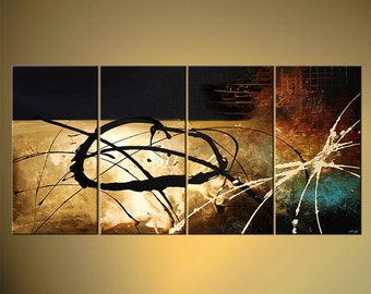 """Large Contemporary Painting Modern Abstract Art on Canvas by Osnat - MADE-TO-ORDER - 60""""x30"""""""