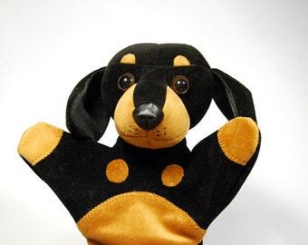 Animal hand puppet for children - puppy