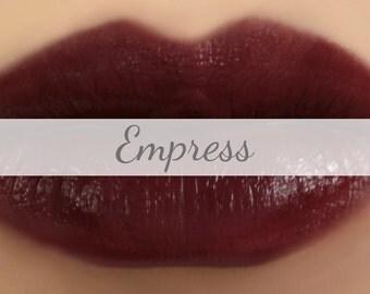 "Vegan Lipstick Sample - ""Empress"" (dark vampy burgundy lipstick) natural lip tint, balm, lip colour"