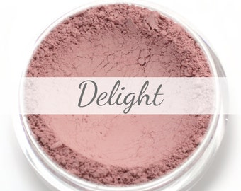 "Pink Blush Sample - ""Delight"" (.75g Net wt) - Vegan Matte Blush"