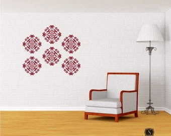 Wall Decals Medallion Wall Pattern - Vinyl Stickers Art