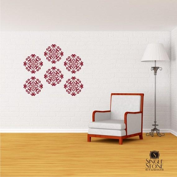 Wall Decals Medallion Wall Pattern - Vinyl Stickers Art