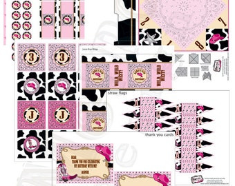Pretty Pink Cowgirl Birthday Party Supplies