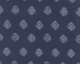 Indigo Geometic Ikat Faded Denim 32902 14 by Moda