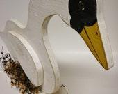 Primitive Wood Goose, Goose Centerpiece, Primitive Fowl, Country Farm Animals