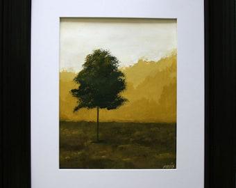 "Title ""Tree II"" Original landscape painting Lone Tree series"