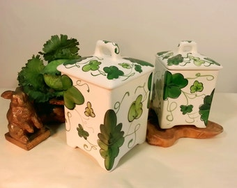 Hand Painted Canister Set - Made in Portugal