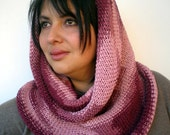Cotton Roll-On Cowl Hand Knit Scarf Neckwarmer Fashion Women Big Reversible  Cowl  NEW