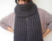 Plumb Grey Ivy Scarf Soft Alpaca Wool Big  Neckwarmer Women/Men Fashion  Chunky  Knit  Scarf NEW