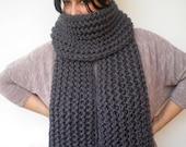 Plumb Grey Ivy Scarf Soft Alpaca Wool Big  Neckwarmer Women/Men Fashion  Chunky  Knit  Scarf NEW