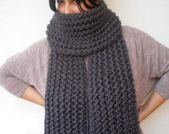 Plumb Grey Ivy Scarf Soft   Wool Big  Neckwarmer Women/Men Fashion  Chunky  Knit  Scarf NEW