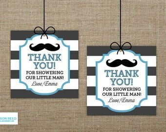 Mustache Printable - Little Man Baby Shower Printable - Little Man Favor Tag - Mustache baby shower - 1st birthday