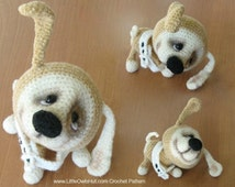 022 Puppy dog with wire frame - Amigurumi Crochet Pattern - PDF file by Pertseva Etsy
