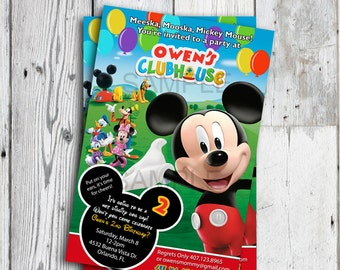 Mickey Mouse Clubhouse Invitations, Mickey Mouse Clubhouse Birthday Invitations, Mickey Mouse Clubhouse Party, Mickey Invitation Printable