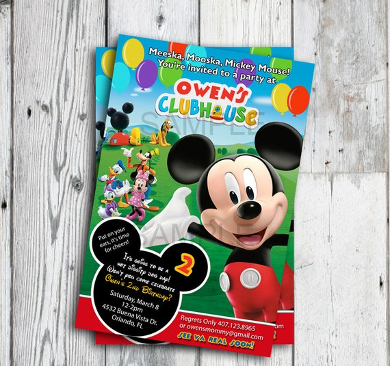 Mickey Mouse Clubhouse Picture Invitations was best invitation template