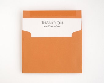 TROPEZ Letterpress Thank You Cards - Cheerful Flat Stationery - Wedding and Bulk Order