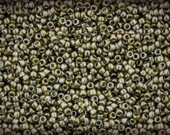 15/0 TOHO seed beads 10g Toho beads 15/0 seed beads Green Tea 15-457