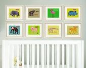 Jungle nursery print art baby art print art for nursery decor art for babies nursery animal art kids art print safari animal prints set of 8