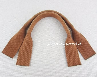 Chestnut Color Real Leather Bag Handles Purse Making, 1 pair