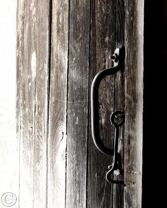 Barn Door Print, Country Life, The Simple Life, Country Decor, Door, Brown, Black, Old Door Print, Farm Life, On the Farm