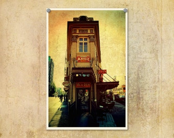 Portland Oregon Photo McMenamins Annex Bar--Fine Art Urban Lomography 8x12